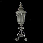 Фонарь садовый на треноге, под свечу,  белая патина FY-160007-MD
