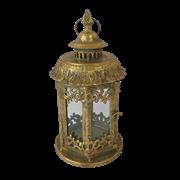 Фонарь садовый, под свечу,  золотая патина FY-160205-F129