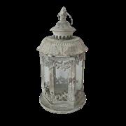 Фонарь садовый, под свечу,  белая патина FY-160205-MD