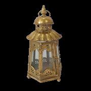 Фонарь садовый, под свечу,  золотая патина FY-160175S-F129
