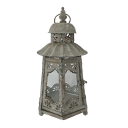 Фонарь садовый, под свечу,  белая патина FY-160175-S-MD