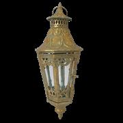 Фонарь садовый подвесной, под свечу,  золотая патина FY-160186-F129
