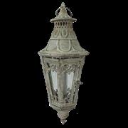 Фонарь садовый подвесной, под свечу,  белая патина FY-160186-MD