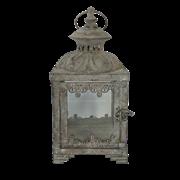 Фонарь садовый, под свечу,  белая патина FY-155235-MD