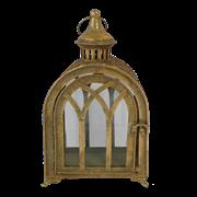 Фонарь садовый, под свечу,  золотая патина FY-160358-F129