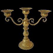 Подсвечник 3-х рожковвый декоративный,  золотая патина FY-160112-F129