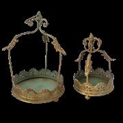 Кашпо подвесное, пара,  для цветов  декоративное,  золотая патина FY-160100-LS-F129