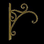 Крючок настенный, декоративный,  золотая патина FY-160116-F129