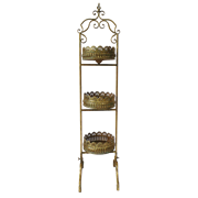 Этажерка 3-х ярусная для цветов  декоративная,  золотая патина FY-160250-L-F129