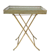 Столик складной  декоративный,  золотая патина FY-160357-F129