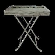 Столик складной  декоративный,  белая патина FY-160357-MD