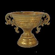 Кашпо напольное для цветов  декоративное,  золотая патина FY-155046-F129