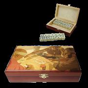 Домино подарочное в шкатулке  Игра SA-DM-011