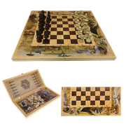 Набор игр шахматы нарды, шашки с доской Сафари SA-SH-021