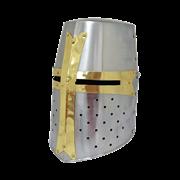 Шлем крестоносца с латунной отделкой NA-3676