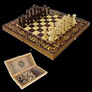 Набор игр шахматы нарды, шашки с доской Махагон SA-SH-115