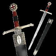 Меч  Крестоносца   в ножнах, серебро AG-288-V