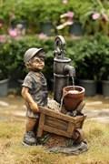 Фонтан декоративный Мальчик с тачкой WXF-03997