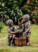 Фонтан декоративный Дети у кадки WXF-04689