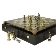 Шахматы с фигурками из металла  Античные войны MP-S-15-28-BRO
