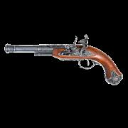 Пистоль под левую руку системы флинтлок, 18 в. Индия DE-1296-G
