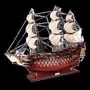 Модель парусника HMS Victory, Англия TS-0001-W-60