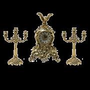 Часы антикварные каминные с канделябрами Император BP-99093