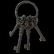 Вешалка крючок для одежды настенная Ключи YM-KR-0624