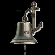 Рында Варягъ на кронштейне Якорь диаметр 18 см, антик AL-80-208-A-VAR-ANT