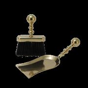 Набор для камина: совок  большой + щетка плоская AL-80-347-B