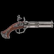 Пистоль системы флинтлок 18 века DE-1308