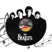 Часы виниловая грампластинка  The Beatles WL-20