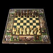 Подарочный набор игр шахматы, нарды, шашки с доской  Бородино SA-SH-037