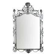 Зеркало настенное Ешпига, бронза с покрытием  серебро BP-50111-S