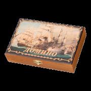 Домино подарочное в шкатулке Морское сражение SA-DM-012