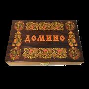 Домино подарочное в шкатулке Русские узоры SA-DM-015