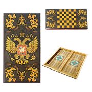 Нарды в деревянной коробке Державные SA-DZ-L