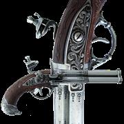Пистоль 2-х ствольный, системы Флинтлок, Франция 18 в. DE-1306