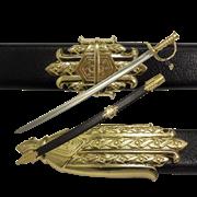Сабля пиратская в ножнах  Эдварда  Черная Борода   1680-1718 гг DE-4195