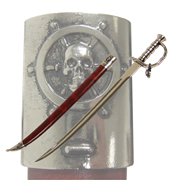 Сабля пиратская в ножнах  Эдварда  Черная Борода   1680-1718 гг DE-4196