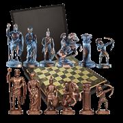 Шахматы эксклюзивные из металла  Античные войны MP-S-10-B-44-BRO