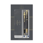 Подарочный набор Parker IM Core Black GT  ручка перьевая и шариковая 2093216