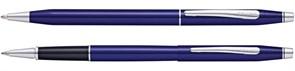 Набор Кросс (Cross) Classic Century Translucent Blue Lacquer: шариковая ручка и ручка-роллер, цвет - синий