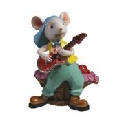 Фигурка декоративная Мышонок Пол (белый) L5 W7 H8 см