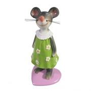 Фигура декоративная Мышка в сарафанчике L8W8H18