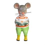 Фигура декоративная Мышонок с книжкой L11W8H17