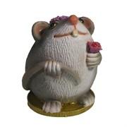 Фигурка декоративная Крыса Асоль (серый) L6,5 W6,5 H9 см