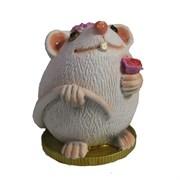 Фигурка декоративная Крыса Асоль (белый) L6,5 W6,5 H9 см
