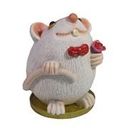 Фигурка декоративная Крыса Грей (белый) L6,5 W6,5 H9 см