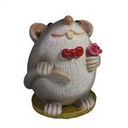 Фигурка декоративная Крыса Грей (серый) L6,5 W6,5 H9 см